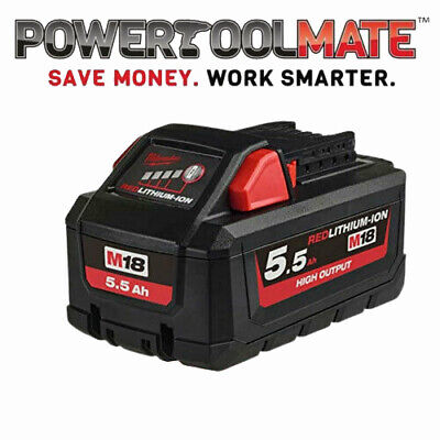 BRAND NEW Milwaukee M18 HB5.5 M18 5.5Ah REDLITHIUM-ION High Output Battery • 88.99£