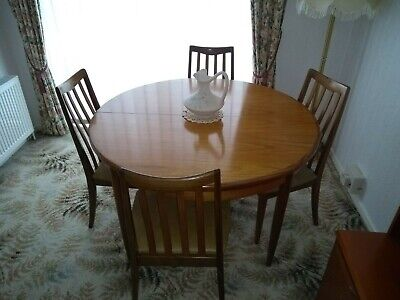 G PLAN Retro Teak Extending Dining Table And 4 X Chairs  • 122£