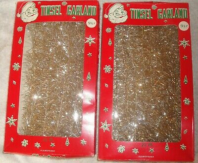 $ CDN26.30 • Buy 2 Antique Vintage Gold Christmas Tree Garland 1960 Ornaments Decorations 42 Feet