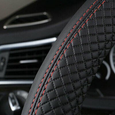 AU20.66 • Buy PU Leather Car Steering Wheel Cover Good Grip Car Accessories For 15 /37-38CM