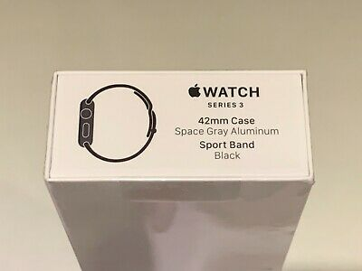 AU240 • Buy Apple Watch Series 3 42mm Case Space Gray Aluminum Sport Band Black (GPS Only)