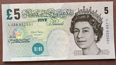 £5 Five Pound  Salmon Note Portrait- Elizabeth Fry • 7£