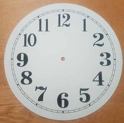 £19.95 • Buy NEW - 12 Inch Clock Dial Face - Off White Antique Finish 305mm Arabic Num - DL36