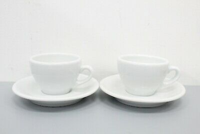 Apilco French Porcelain Demitasse Espresso Coffee Cups & Saucers Set Of 2 (1/3) • 10.49£