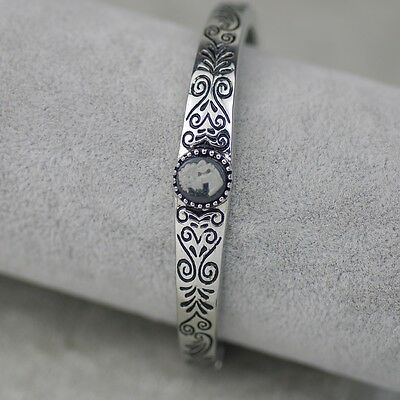 $ CDN10.68 • Buy Lia Sophia Signed Jewelry Vintage Silver Tone Stretch Pattern Bangle Bracelet