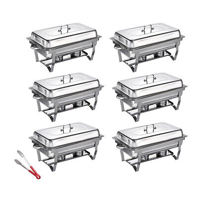 £139.99 • Buy Pack Of 6 Stainless Steel Chafing Dish Sets