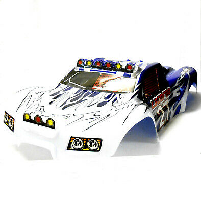 73909 RC 1/8 Scale Monster Truck Truggy Body Shell Cover Blue White Short Course • 26.99£