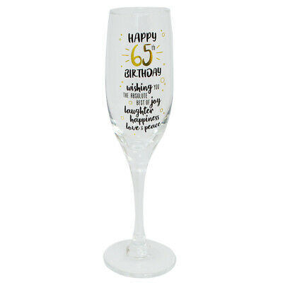 Happy 65th Birthday Celebrate In Style Champagne Flute Glass In Gift Box • 11.99£
