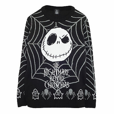 £42.99 • Buy Mens The Nightmare Before Christmas Knitted Jumper Jack Web Official Disney