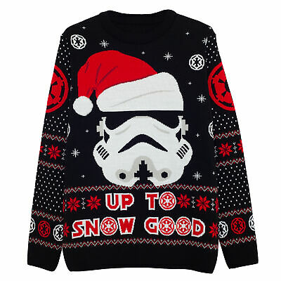 £43.99 • Buy Mens Star Wars Knitted Jumper Christmas Stormtrooper Up To Snow Good Official