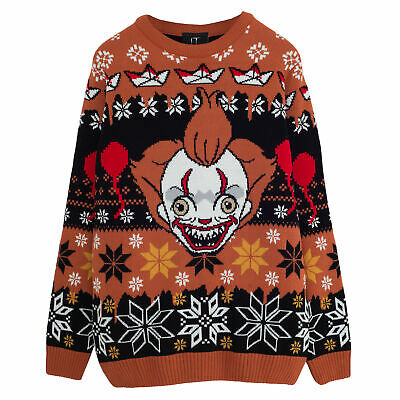 £42.99 • Buy Mens It: Chapter 2 Knitted Jumper Pennywise Face Official Black