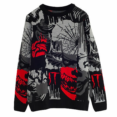 £42.99 • Buy Mens It: Chapter 2 Knitted Jumper Pennywise Tiles Official Black