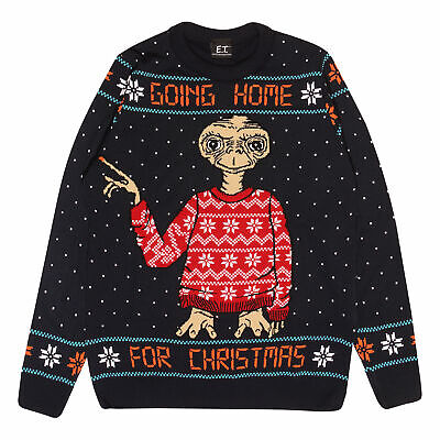 £39.99 • Buy Mens E.T. Knitted Jumper Going Home For Christmas Official Blue