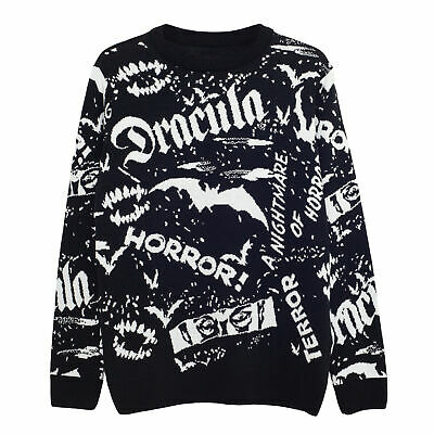 £40.99 • Buy Mens Universal Monsters Knitted Jumper Dracula Official Black