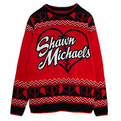 £41.99 • Buy Mens WWE Knitted Jumper Shawn Michaels Official Red