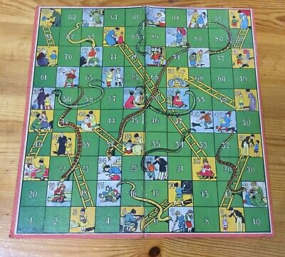 Vintage Spears Games Snakes & Ladders Board Only. • 0.99£