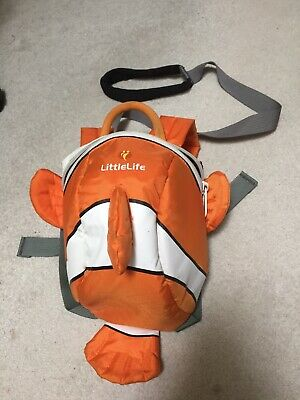 Littlelife Toddler Backpack Nemo/clown Fish With Reins - Used. • 3£