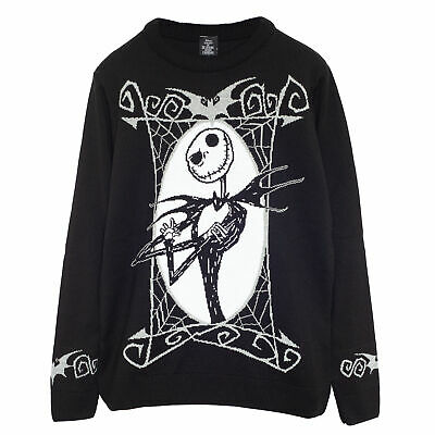 £42.99 • Buy Mens The Nightmare Before Christmas Knitted Jumper Jack Portrait Official Disney