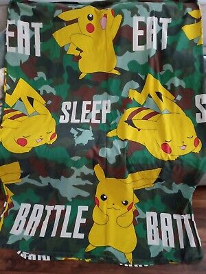 Doubled Sided Pokemon Pikachu Single Quilt/Duvet Cover Set From Primark • 2.99£