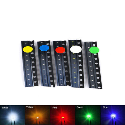 $1.99 • Buy 50pcs 0402 SMD/SMT LED's Diode Kit Red Yellow Blue Green White Each Color 10pcs