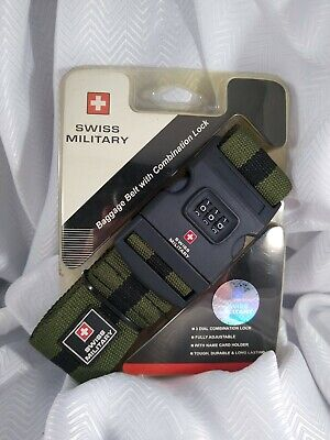 Swiss Military Travel Gear - Green Security Baggage Belt RRP £12 • 8.30£