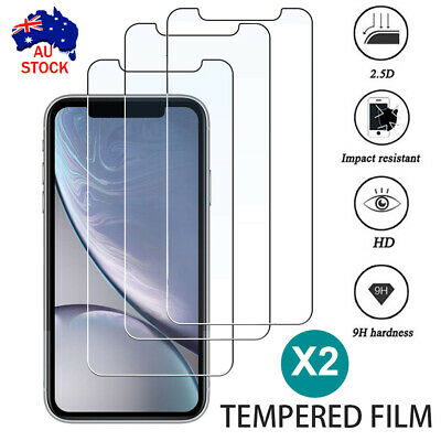 AU6.39 • Buy 2x Apple IPhone 11 Pro XS Max XR X 6 Front /Back Tempered Glass Screen Protector