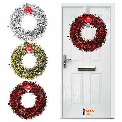 Christmas Winter Wreath Door Hanger Metal Hook Xmas Decoration Wreath Craft Home • 5.99£