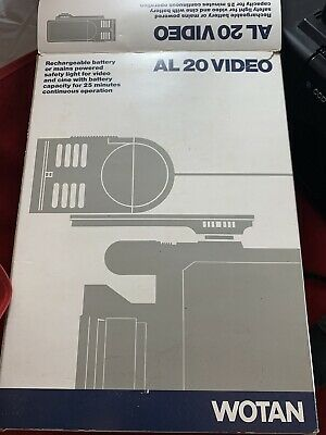 WOTAN Vintage AL 20 VIDEO - CAMCORDER LIGHT. • 20£