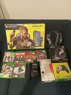 AU700 • Buy Xbox One X 1TB Cyberpunk Limited Edition Console Bundle With Loads Of Extras