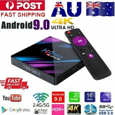 AU59.99 • Buy Android Smart TV Box H96 Max Ultra HD WIFI 4K Quad Core Netflix Youtube 4GB 64GB
