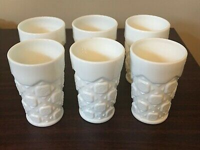 $6.99 • Buy Vintage Milk Glass Tumblers (set Of 6).  One Has A Chip (see Picture #4).