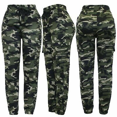 Ladies Cargo Two Pocket Combat Stretch Casual Trousers Slim Fit Joggers Sport  • 8.99£