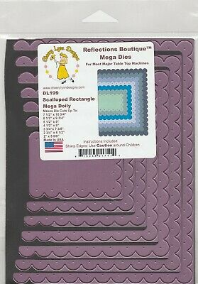 £9.50 • Buy Cheery Lynn Reflections/DL199/ Half Rectangle Cutting Die Set Of 7 Scallop