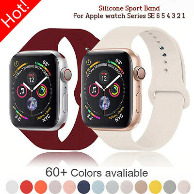 $ CDN4.57 • Buy Silicone Band Strap For Apple Watch Series 2/3/4/5/6 IWatch Sports 38/40/42/44mm