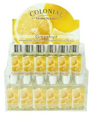 Joblot Of 24 Colonial Grapefruit Scented Refresher Oils . • 25.99£