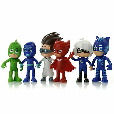 PJ Mask Action Figures Set 6PCS Catboy Owlette Gekko Toys Kids Gift Cake Topper • 12.99£
