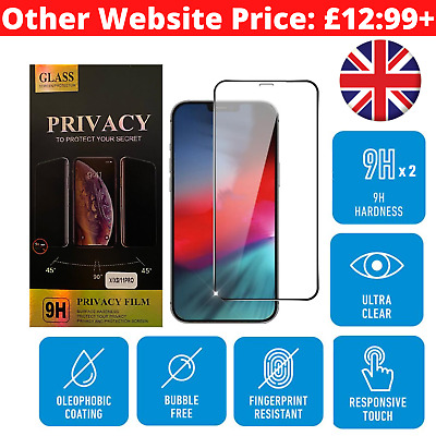 9h Tempered Glass Screen Protector IPhone 11, 11 Pro Max, XR, XS, Full Cover UK • 4.89£