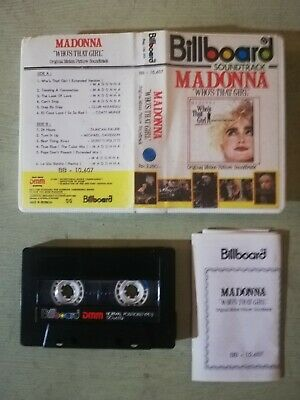 Madonna 'Who's That Girl' Cassette Tape (Billboard Import) • 5£