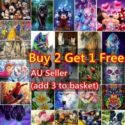 AU8.99 • Buy DIY 5D Full Drill Diamond Painting Embroidery Cross Stitch Kits Art Decor Gifts
