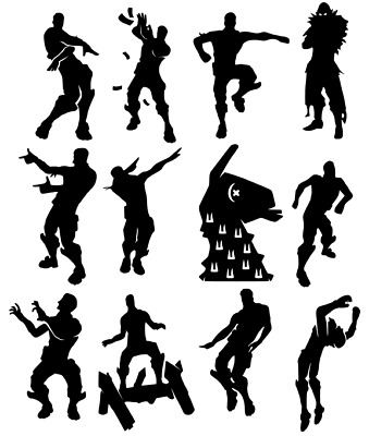 12 X Dancing Fort Nite Inspired Sticker Decal Game Dab Floss Xbox Ps4 • 2.99£
