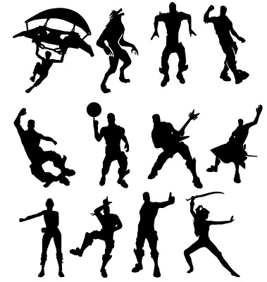 12 X  Dancing Fort Nite Inspired Sticker Decal Game Dab Floss Ps4 Xbox • 2.99£