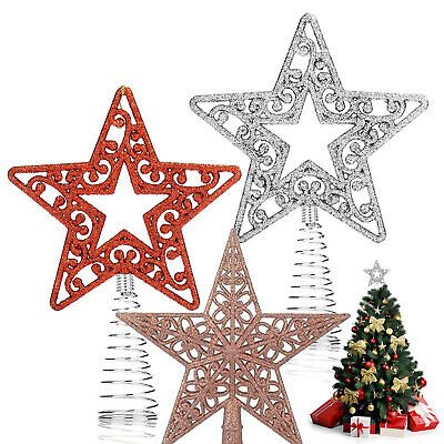 Star Christmas Tree Topper Party Ornament Decoration Xmas Baubles Sparkling UK • 4.99£