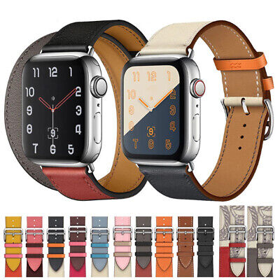$ CDN7.25 • Buy Leather Strap For Apple Watch Band 38/40/42/44mm IWatch Series 6 5 4 3 2 1 SE