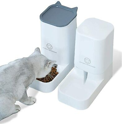 2X 3.8L Large Automatic Pet Food Drink Dispenser Dog Cat Feeder Water Bowl Dish • 16.98£