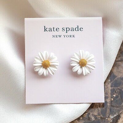 $ CDN31.14 • Buy Kate Spade | Into The Bloom White Daisy Studs Earrings
