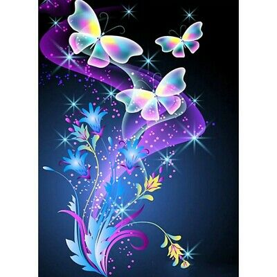 AU12.49 • Buy 5D Full Drill Diamond Painting Butterfly Embroidery Cross Stitch Kits Art Decors