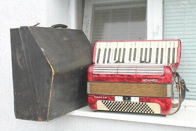 $556.80 • Buy Vintage Made German Button HOHNER TANGO II M Accordion Musical Instrument 96Bass
