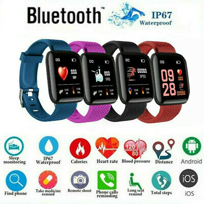 AU11.99 • Buy Bluetooth Smart Watch Heart Rate Sport Fitness Tracker Wristwatch For All Phone