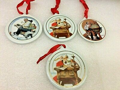 $ CDN30.39 • Buy JC Penney Norman Rockwell Christmas Ornaments 1995,96,97 Lot Of 4