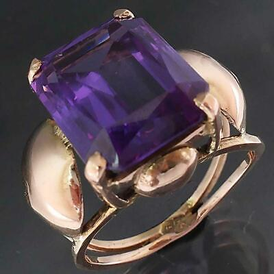 AU449 • Buy Egyptian 10k Solid Rose GOLD Colour Change 10ct ALEXANDRITE SAPPHIRE RING Sz O